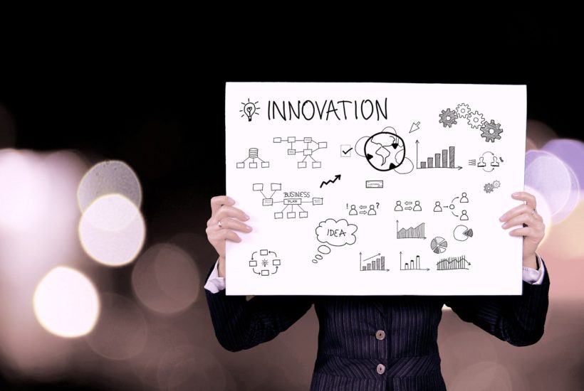 This picture show an innovation sign.