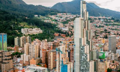 This picture show the city of Bogota.