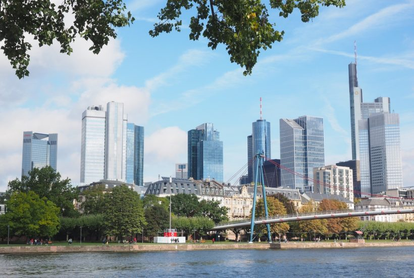 This picture show the city of Frankfurt.
