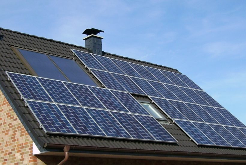 This picture show some solar panels.