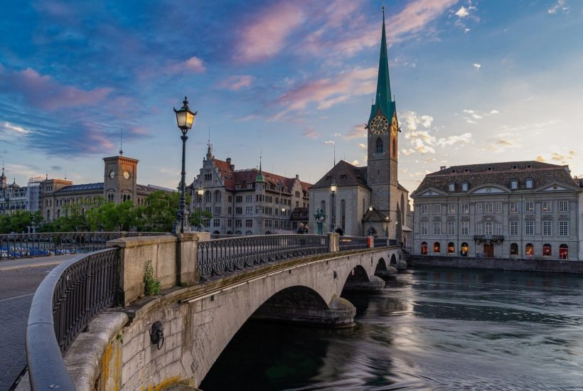 This picture show a city in Switzerland.