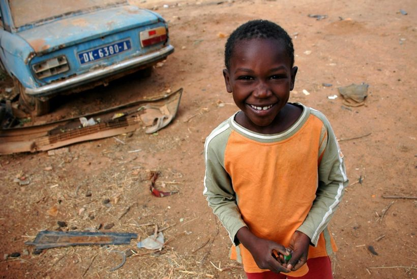 This picture show a Senegalese boy.