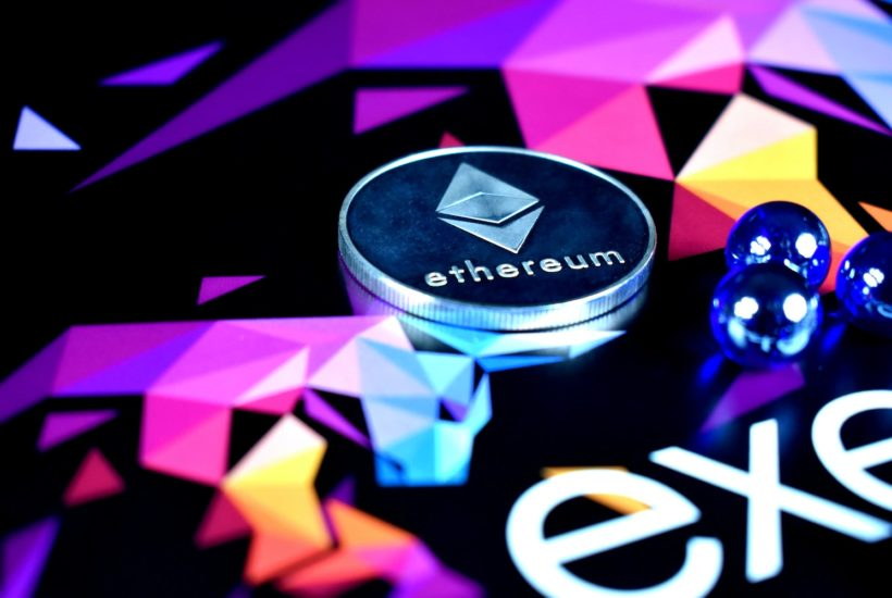 This picture show an Ethereum coin.