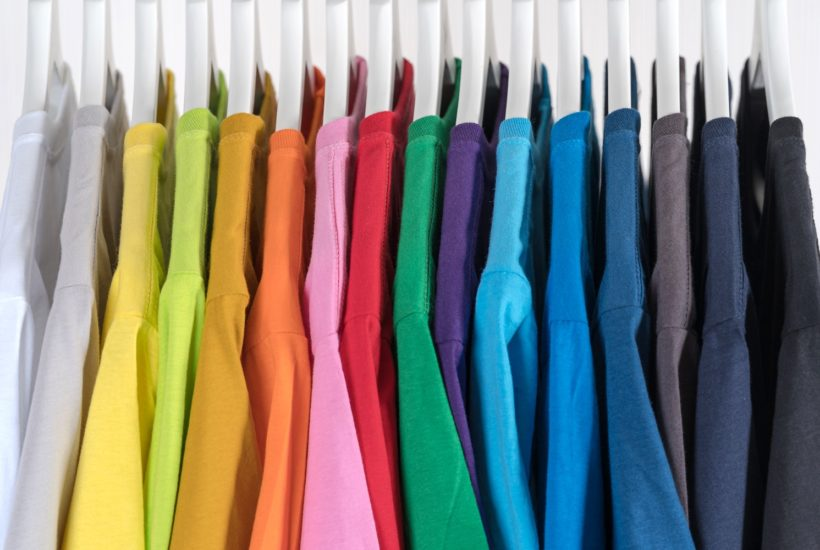 This picture show a variety of clothes.