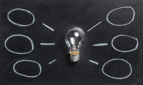 This picture show a lightbulb representing an idea.