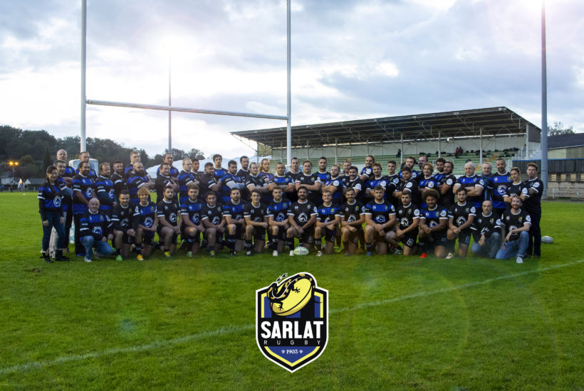 The Sarlat Rugby Team and Staff